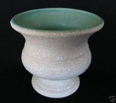 Vintage CALIFORNIA ORIGINALS White Aqua American Art Pottery Planter Vase picclick.com
