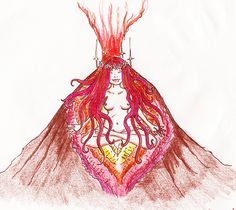 """""""Whether a woman knows it or not, she is a vessel of great magnitude born capable of reshaping humanities destiny if she only knew the true depths of her innate gifts. Be prepared now to see the fierce face of the feminine rock as her inner geographies of volcanic strength erupt from a love she has held in her belly for life all of her days. This is not a gasp of her last breath.It is her birthing cry into her wise leadership on our planet."""" ~ ALisa Starkweather"""