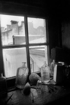 butwhatisphotography by Boris Smelov 1983 Bw Photography, Still Life Photography, Creative Photography, Antique Bottles, Old Bottles, Still Life Photos, Contemporary Photographers, Tea Art, Through The Looking Glass