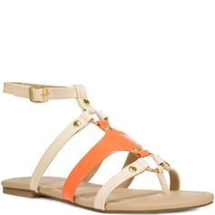 Orange Sandals for Women | JustFab Merida Orange Shoes for Women