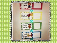Chevron Classroom Jobs- Pocket Chart or Velcro