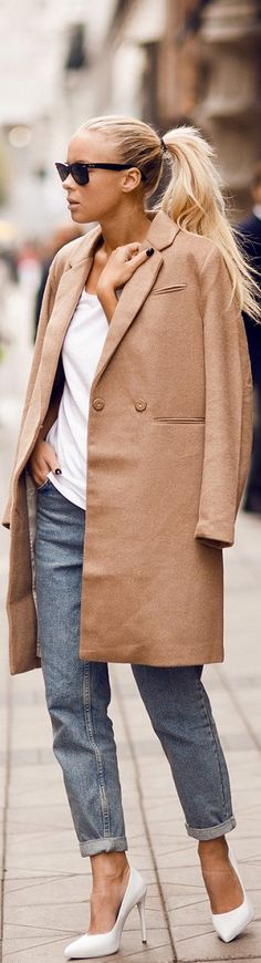 The definition of chic...Double tap the photo to shop this look under $100...  For more chic deals, subscribe to TheChicStreetJournal.com   #oversizedcoats #coattrend #fallfashion #currentlycoveting #falltrends #streetstyle #getthelook #shopthelook #luckycommunity #shopstyle