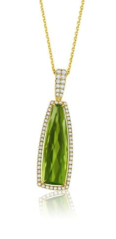 Periodot & Diamond Necklace by Martin Katz