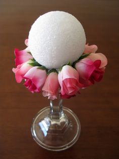 this is a great project for valentine's day, but could easily be adapted to suit any season or decor just by switching out the flowers. (p...