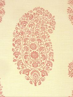 Paisley - 05 - Pink from Titley & Marr, available from Tissus d'Helene