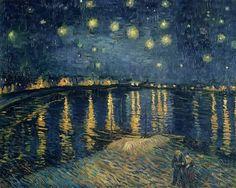 Notte stellata sul Rodano, Vincent van Gogh