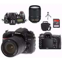 Nikon D7200 + 18-140mm + Bolsa + 32gb + Bolsa + Tripé Wi-fi