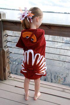 Virginia Tech Hokie Bird Hooded Towel by LittleSinks on Etsy, $34.99