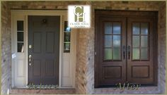 Front And Entry Doors For Your House – The Homeward View Replacing Front Door, Double Front Doors, Front Entry, Unique Garage Doors, Garage Door Design, Front Door Makeover, Exterior Makeover, Front Porch Remodel, Traditional Front Doors