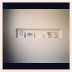 ニッチ/On Walls…などのインテリア実例 - 2012-05-23 23:16:14 Wall Shelves Design, Display Shelves, Interior And Exterior, Interior Design, Drawing Room, Floating Shelves, Entrance, House Design, Living Room