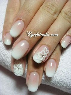 Nude gradient nails