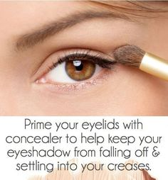 prime your eye lid with concealer