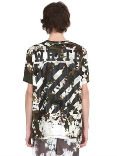Camouflage Printed Cotton Jersey T-Shirt  - Click link for product details :)