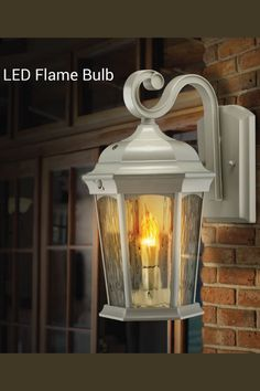Solar Powered Candle Warm Light Wall Lamp Landscape Home Window Wall Lig DAD