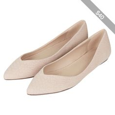 TOPSHOP SPRINGS Slip-On Pointed Shoes