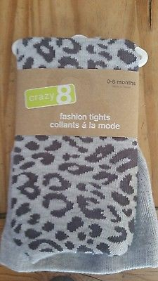2 Gymboree Crazy 8 fall/winter tights girl 0-6mo solid cranberry & animal print