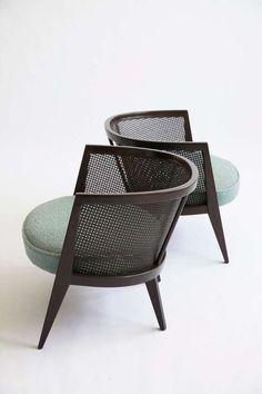 this chair takes a modern approach to caning with beautiful clean lines.