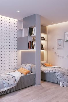 Small Room Design, Home Room Design, Kids Room Design, Small Room Bedroom, Home Bedroom, Bedroom Decor, Bedrooms, Boy And Girl Shared Room, Girl Room