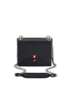 dca68394ff9b Fendi Kan I Mini Leather Chain Shoulder Bag