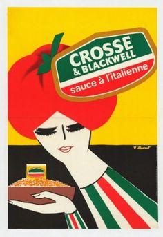 Bernard Villemot, Crosse & Blackwell - sauce à l'italienne