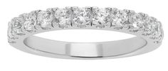 Simply Stunning Wedding band set with thirteen 2,5mm brillian cut cubic zirconia gemstones on a 3mm bandSterling silver