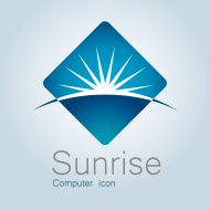 Sign, Sunrise, Earth, Globe,Planet, Horizon, Modern Logo