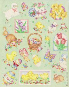 Vintage Adorable Easter Sticker sheet by Carlton Cards ltd
