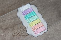 Infant Hair Clips Set of 7 / Pastel Colors / by nellisbowtique