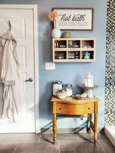 We hear it all the time: Self care is important! Now, more than ever, I think it's crucial to be able to take the time to relax, rejuvenate, and just really tak… Headboard Art, Chair Planter, Outdoor Sinks, Storage Hacks, Sewing Table, Wooden Diy, Blank Space, Small Space, Upholstered Chairs