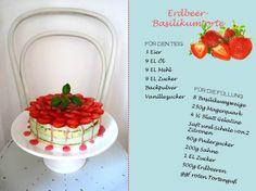 Erdbeer-Basilikumtorte