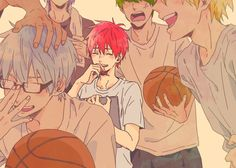 LOOK AT LITTLE SMILING AKASHI HIS LITTLE SMILE GIVES ME LIFE AND CHEERS ME UP ON MY DARKEST DAYS LIKE HONESTLY GIVE THIS BOY ALL THE HAPPINESS AND JOY IN LIFE UNTIL HE CAN'T BE SAD ANYMORE HE DESERVES BLISS