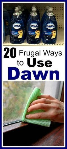 20 Frugal Ways to Use Dawn Dish Soap- Did you know that Dawn can be used for much more than just dishes? Check out these frugal ways to use Dawn dish soap! They can save you a lot of money! money saving tips, frugal living, money saving ideas, other use Household Cleaning Tips, Household Cleaners, Cleaning Recipes, House Cleaning Tips, Spring Cleaning, Cleaning Hacks, Diy Hacks, Cleaning Supplies, Deep Cleaning
