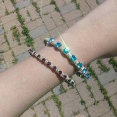 /rhinestone-twine-wrapped-bangle-blue-and-pink-set