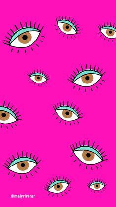 Iphone Wallpaper Eyes, Iphone Wallpaper Tumblr Aesthetic, Cellphone Wallpaper, Cartoon Wallpaper, Wallpaper Backgrounds, Vintage Flowers Wallpaper, Flower Wallpaper, Cool Wallpaper, Pattern Wallpaper