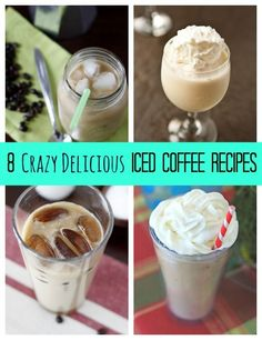 8 new iced coffee recipes! Beat the summer heat and get a boost with these delicious drinks! Raspberry cappuccino smoothie anyone?