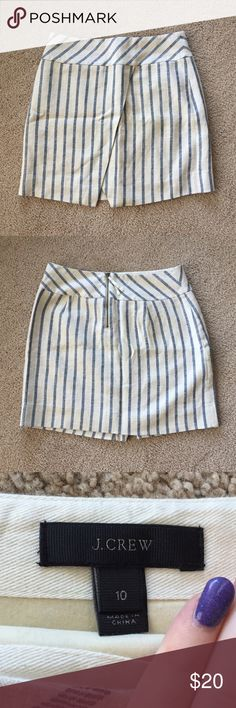 NWOT J. Crew Skirt Brand new, never worn. Size 10, true to size. A little wrinkled from sitting in my drawer. Will dewrinkle before shipping.  J. Crew Skirts