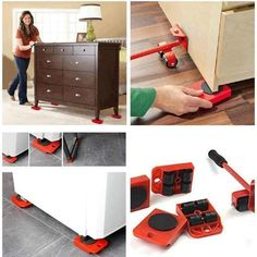Heavy Furniture Roller Move Tool – Stylish New Deals Moving Furniture, Furniture Movers, Furniture Legs, Closet Lighting, Cool Things To Buy, Bookcase, Home Improvement, Cool Stuff, Storage
