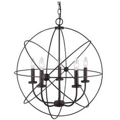 CANARM Summerside 5-Light Oil Rubbed Bronze Chandelier-ICH282B05ORB25 - The Home…