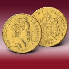 Originalmünze 20 Francs Frankreich  Napoleon III.