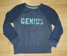 Cat and Jack boys GENIUS sweatshirt 5T blue raglan   Clothing, Shoes & Accessories, Baby & Toddler Clothing, Boys' Clothing (Newborn-5T)   eBay!