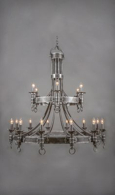 Castillian Vintage Wrought Iron Chandelier - 18 Light