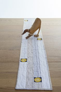 New Every Morning Patchwork and Quilting: Natural Colours Quilted Patchwork Table Runner  £38.00
