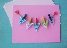 Sweet Tidings: Handmade Summer Craft Days: Clothesline Bunting Handmade Card Tutorial