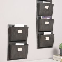 Keep Your Office Organized With The Metal Wall File Organizer With Two  Pockets To Hold Mail Files Magazines And More | For The Home | Pinterest |  Wall File ...