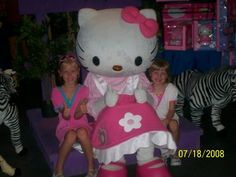 met Hello Kitty while in one of the shops