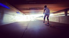 @natgraks pushing through to the other side. #cityplace #sidestreetsurfing #followthelight #longboarding #longboardism #longboardgirls #longboardgirlscrew #whitelight #bridge #girlscanride #girlscanskate