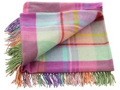 Avoca Checked Lambswool 'Wallflower' Throw
