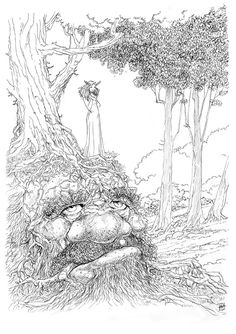 Fairy tale illustration by Aaron Pocock. Links to his blog, but I can't find this drawing. Still, I love it so I'm going to keep the pin.