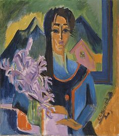 1922 Ernst Ludwig Kirchner (German Expressionist, 1880-1938) Sunday in the Alps ~Repinned Via Pamela Scott http://bjws.blogspot.com.au/search/label/Japonisme