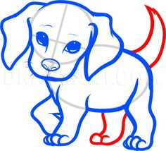 How To Draw A Beagle Puppy, Beagle Puppy, Step by Step, Drawing Guide, by Dawn | dragoart.com Easy Animal Drawings, Easy Drawings For Kids, Drawing For Kids, Cartoon Drawings, Cute Drawings, Puppy Drawings, Puppy Drawing Easy, Dog Drawing Simple, Cute Beagles